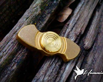 The Hummingbird Fidget Spinner in Brass