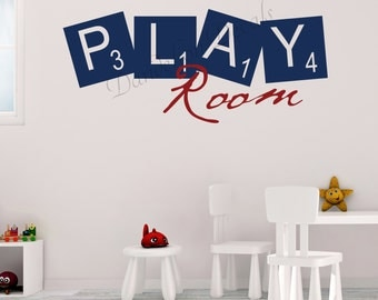 Playroom Wall Decal - Playroom Decal - Playroom Decor - Kids Playroom Decal - Kids Room Wall Decal - Toy Room Wall Decal