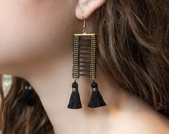 Lace earrings - OPIUM - Black lace