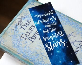 Book quote Bookmark Bookworm - Lord of the Rings Interstellar poem Do not Go Gentle Madeleine L'Engle Jrr Tolkien Dylan Thomas