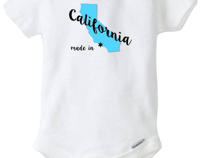 California Baby Boy Onesies®, Made in California, Born in California, Baby Shower Gift, Coming Home outfit, Custom State Onesies®, Baby Boy