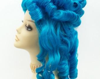 Alternative Blue Marie Antoinette Costume Wig. Colonial Style Wig. [19-125B-Marie-Blue]