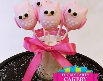 Owl Cake Pops - 1 Dozen