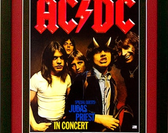 AC / DC  Concert Poster Custom Framed Highest Quality