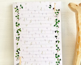 Illustrated notepad, watercolor notepad, rabbit notepad, woodland to do list, strawberry memo pad, mini letter pad