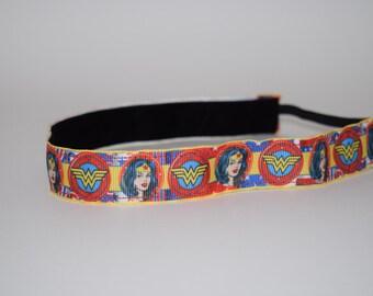 Wonder Women Headband- Wonder Women- WW Face- WW Headband
