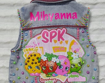 Shopkins outfit, shopkins vest, shopkins shirt, shopkins birthday outfit, shopkins shoes, shopkins birthday, girls birthday vest, shopkins