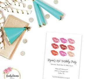 Lipstick Birthday - Diva Birthday - Birthday Party Invitation - Girl Birthday - Printable Invitation - Digital Invitation