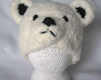 Adult Polar Bear Hats. Winter hats.  Teen polar bear hats. As seen in the Columbus Zoo commercial!