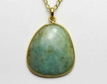 Aquamarine pendant Aquamarine Necklace, Natural Stone Jewelry, March Birthstone Necklace natural aquamarine jewelry