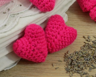 Heart of Provence Lavender Sachets | Hand-made in amigurumi | For the laundry. Decoration | Kawaii