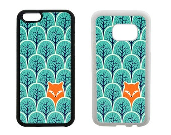 Fox Phone Case Samsung Galaxy S8 Plus, S7 S6 Edge, S5 S4, Note 5, iPhone 8 7 6 6S Plus, X SE 5S 5C 5 4S, Fox gifts, rubber phone case. R281