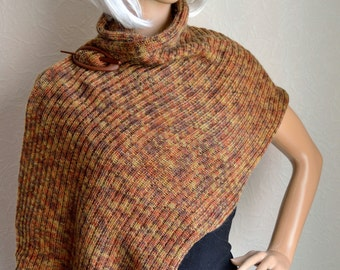 Hand knitted women's shawl