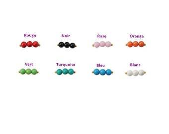 40 beads of Jade terrain 10 mm 8 colors to choose