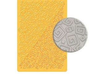 Maze texture plate to paste FIMO SCULPEY CERNIT - Labyrinth texture sheet for polymer clay