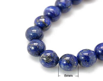 23 Lapis Lazuli beads natural round 8mm