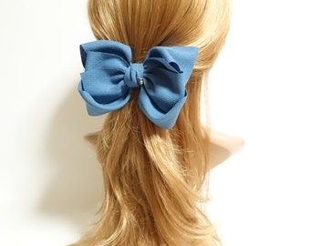 Big Multi Layer Bow French Hair Barrette Women Hair Accessories Free Shipping Bow Clip