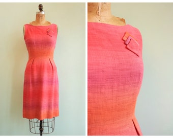 Vintage 1950's Pink Ombre Dress  | Size Small