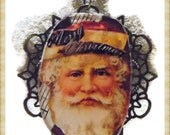 Vintage Santa Olde Eyeglass Pendant Necklace