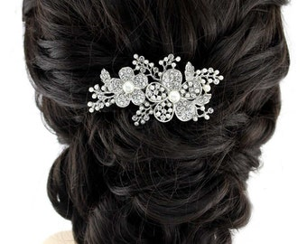 Bridal Hair Comb Crystal Pearl Wedding Hair Comb Accessories Gatsby Old Hollywood Wedding Hair Combs Crystal Wedding Jewelry Accessory
