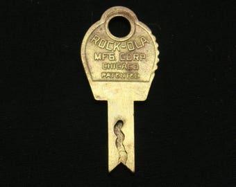Vintage Rock Ola jukebox key-old juke box key-rockola jukebox key-brass jukebox key-bell lock jukebox key-belllock rock ola jukebox key