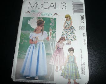 McCall's Special Moments Children's And Girls Dresses Sewing Pattern Uncut
