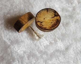 Constance Driftwood studs Ø 13, 7 mm