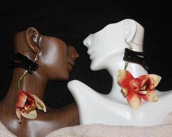 Sunhaze Orchid Earrings (Medium)