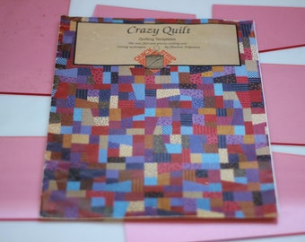 Patchwork quilt templates, Sharlene Jorgenson's Crazy Quilt rotary cutting plastic templates with full instructions