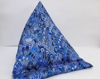 Tablet bean bag stand. ipad, kindle, tablet. Liberty of London Eben cotton fabric. 2 size options.