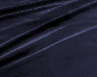 Fabric silk velvet deep blue upholstery 50.000 Martindale night blue