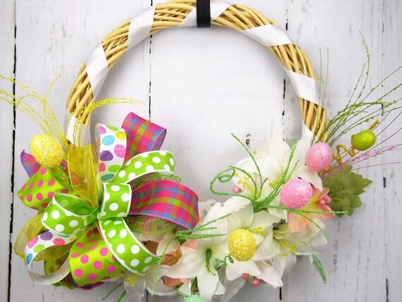 Il_570xn & Spring Wreath Easter Egg Wreath Wood Wreath Easter Lily Wreath ... pezcame.com