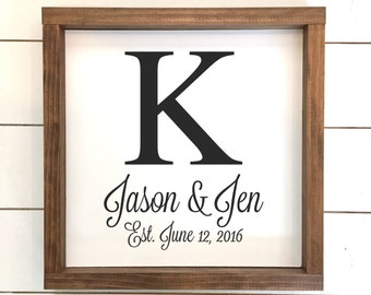 Personalized Last Name Wood Sign //  Wedding Gift // Anniversary Gift // Personalized Wedding Gift // Housewarming Gift // Last Name Sign