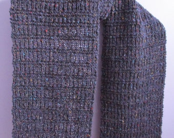 Hand knitted soft scarf