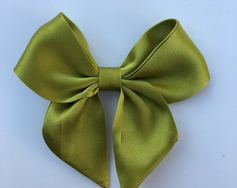 Pure Silk green  sailor bow