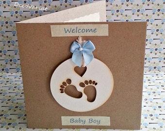 baby boy card, just born card, new baby card,  rustic baby boy card, new baby boy card, rustic new baby card, baby card