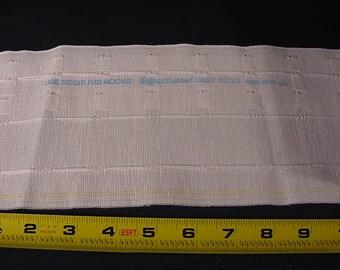 "Craft Supply Sewing * Drapery Pleating Tape * 13 1/2 yards 5 1/2"" wide * Iron On * Rufflette Deep Regis"