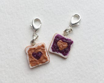 Peanut Butter & Jelly Friendship Charms