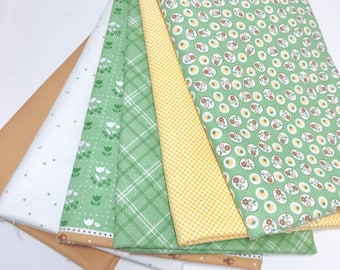 1 Yard Bundle Calico Days by Lori Holt of Bee In My Bonnet for Riley Blake Designs 6 Fabrics