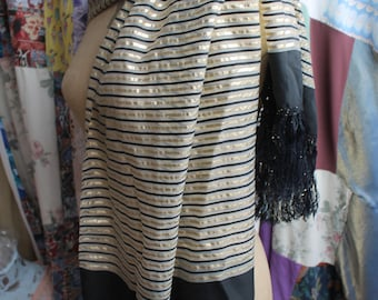 Gold and Black evening scarf REF 577