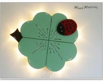 Children - snooze lamp * clover + Ladybug *.