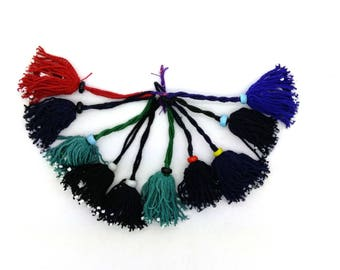 10 Red Navy Black Green DIY Craft Tassels Tribal Belly Dance Bohemian Supplies