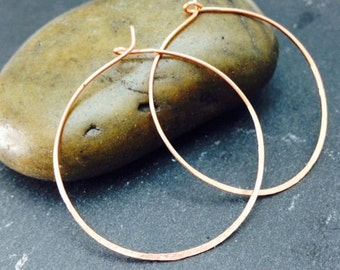 Rose Gold Hoop Earrings Plated Gold Handmade Jewellery UK