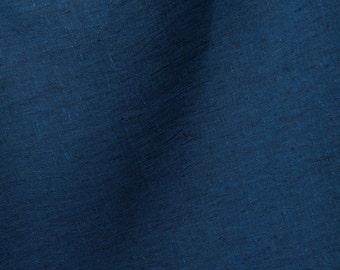 100% linen fabrics in dark blue/Christmas blue linen fabrics/Natural linen fabrics in grey by the half-meters