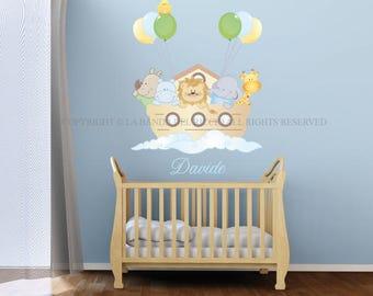 Baby Wall Decal Nursery Noah's Ark Wall Decal Kids Wall Stickers Baby Nursery,Wall Decal Noah's Ark