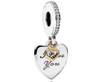 Sterling Silver I Love You Forever Charm