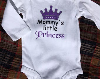 Mommy's (or) Daddy's Little Princess Onesie