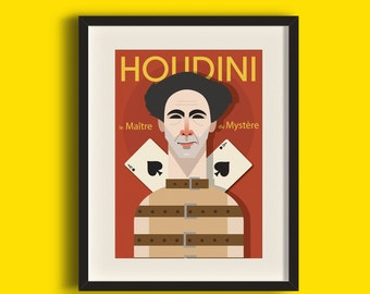 Houdini : The Master of Mystery Television Art Print