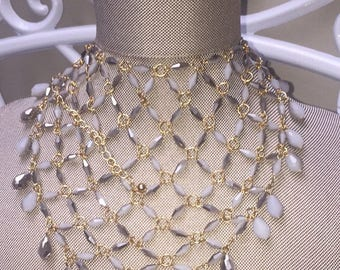 Fish Net Beaded Choker