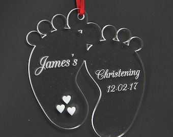 Baby's Acrylic Footprints Gift. Baby feet. Decoration. Christening. Birthday. First steps. - ACRYLICFOOTPRINTS